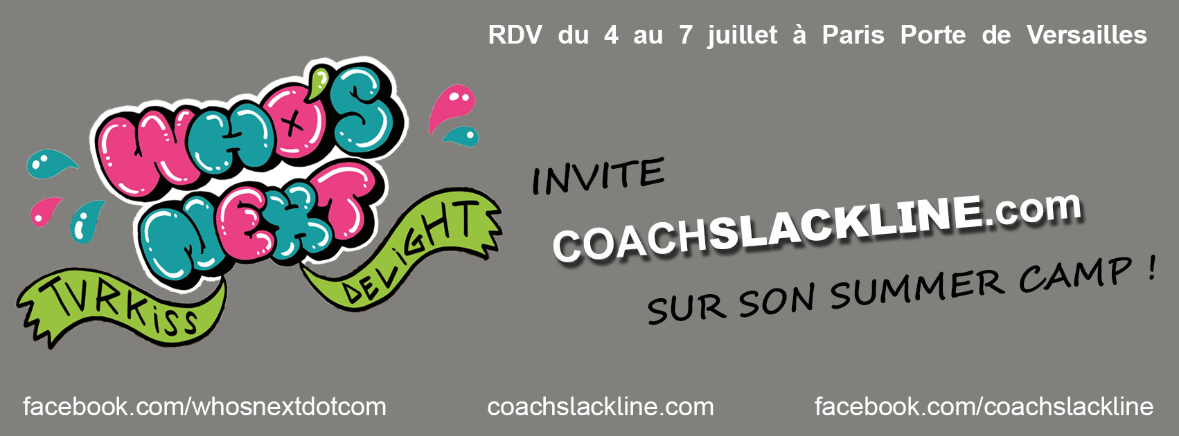Coachslackline au salon who s next ce we romain billard for Porte de versailles salon who s next
